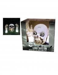 Decoração luminosa e sonora esqueleto Halloween