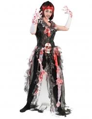 Disfarce noiva sangrenta mulher Halloween