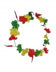 Colar Havaí verde amarelo e vermelho