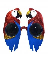 Óculos papagaio brilhantes adulto