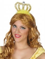 Diadema de princesa dourado adulto