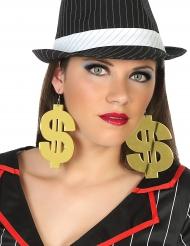 Brincos gigantes dólar adulto