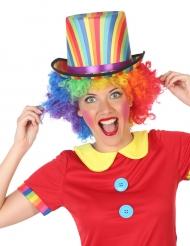 Chapéu alto às riscas coloridas adulto