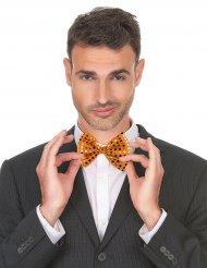 Laço para o pescoço cor de laranja com brilhantes adulto
