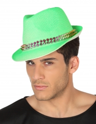 Chapéu borsalino verde adulto