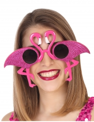 Óculos Flamingo rosa brilhante adulto