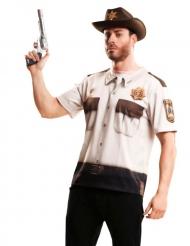 T-shirt xerife dos zombies adulto