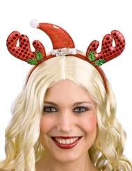 Bandolete rena com chapéu vermelho adulto Natal