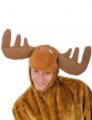 Gorro de rena em pelúcia adulto Natal