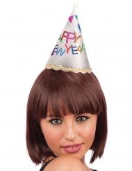 Mini chapéu luminoso Happy New Year adulto