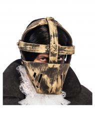 Máscara dourada prisioneiro adulto