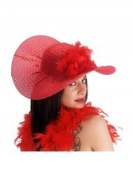 Chapéu elegante vermelho mulher