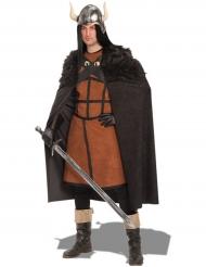 Capa de guerreiro preta adulto