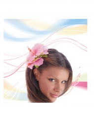 Flor cor-de-rosa para cabelo adulto