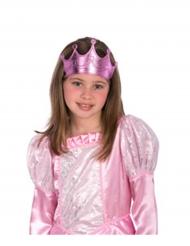 Coroa de princesa cor-de-rosa menina