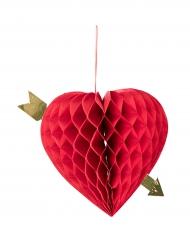 Decoração a suspender coração alveolado 20 cm