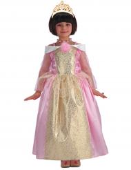 Disfarce princesa cor-de-rosa e dourado menina
