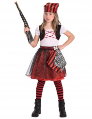 Disfarce pirata com lantejoulas menina