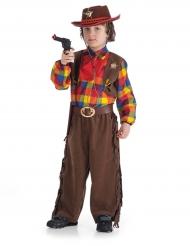 Disfarce xerife menino