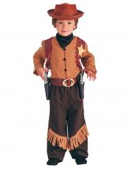 Disfarce cowboy do Faroeste menino