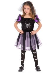 Disfarce bruxa com aranha menina