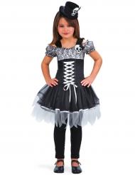 Disfarce bruxa Dia de los muertos menina