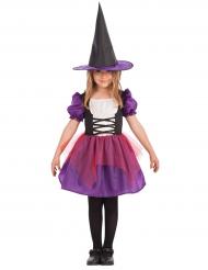 Disfarce bruxa lilás menina