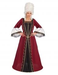 Disfarce barroco bordeaux mulher