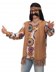 Disfarce hippie castanho homem