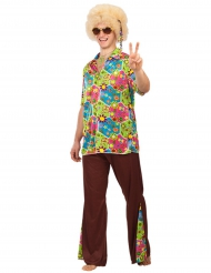 Disfarce hippie flowers homem