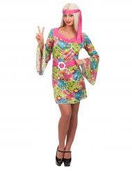Disfarce hippie flowers mulher