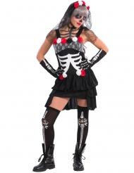 Disfarce esqueleto sexy mulher Dia de los muertos