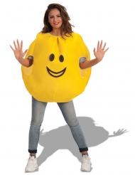 Disfarce emoji alegre adulto