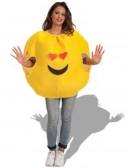 Disfarce emoji apaixonado adulto