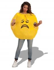 Disfarce emoji triste adulto