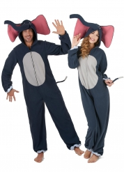 Disfarce de casal elefante adulto