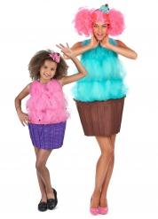 Disfarce de casal cupcake Mãe e Filha