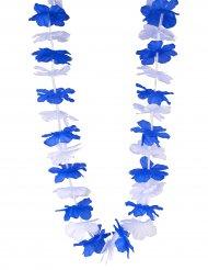 Colar Hawaí torcedor azul e branco Finlandia - adulto