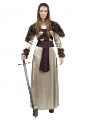 Disfarce guerreira medieval mulher