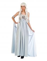 Disfarce vestido de princesa azul mulher