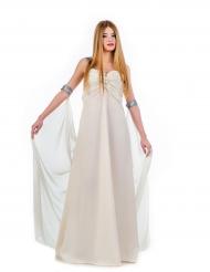 Disfarce vestido de princesa branco mulher