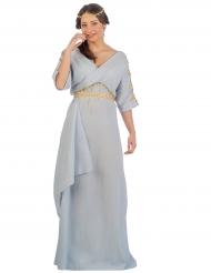 Disfarce princesa romana azul mulher