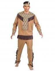 Disfarce índio com folhas homem