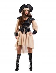 Disfarce pirata mulher efeito veludo