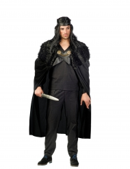 Capa de guerreiro preta homem
