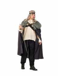 Capa de guerreiro cinzento homem