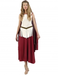 Disfarce gladiadora romana vestido mulher