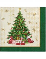 16 Guardanapos de papel árvore de Natal
