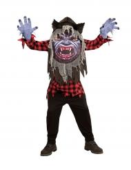 Disfarce lobisomem cabeça grande adolescente Halloween
