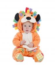 Disfarce leão cor de laranja bebé